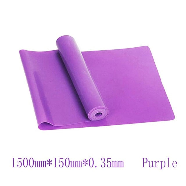 Gym Fitness Equipment Resistance Bands Strength Training Latex Elastic Workout Crossfit Yoga Rubber Sport Pilates