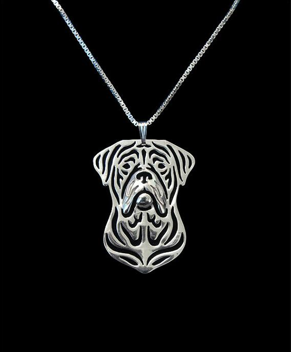 Handmade Boho Chic Dogue de Bordeaux Necklace Female/Male Gift Jewelry Necklace--12pcs/Lot(6 Colors Free Choice)