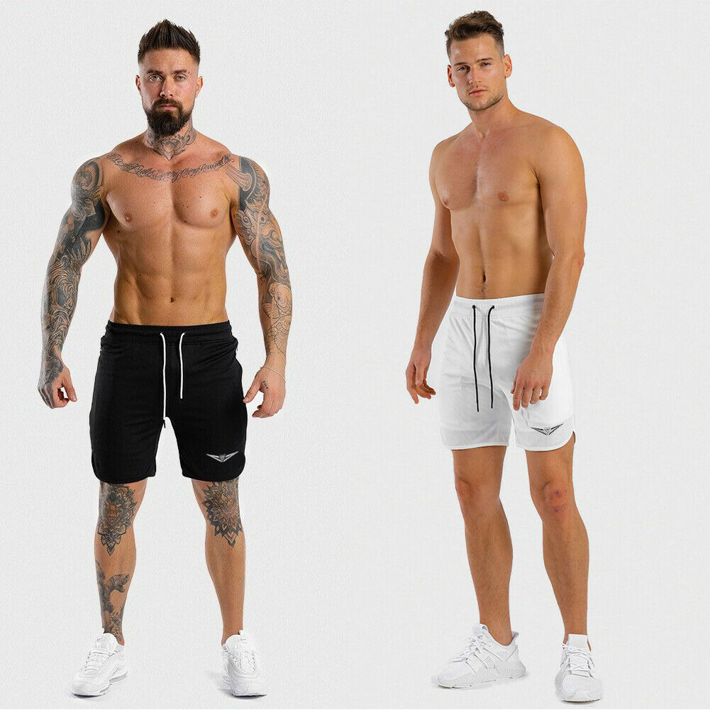 Hirigin Men's Short Track Trousers Casual Sports Jogging Bottoms Joggers Gym Shorts Pants