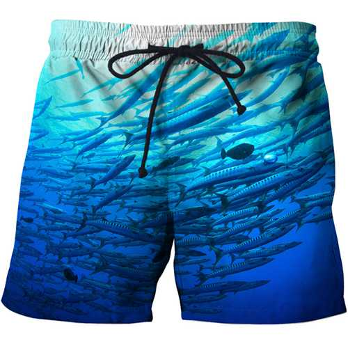 Hot Tuna Funny Casual shorts Full Fish Printing 3D Swimming Trunks Shorts Cool Summer Bermuda beach pants Mens Womens Swimwear