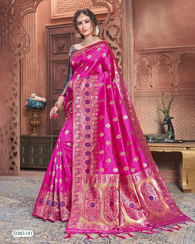 India Saree Ethnic Style Female Silk Embroidered Traditional Dress Include Sare Choli Petticoat Indues Vestidos Hindu Mujer Sari