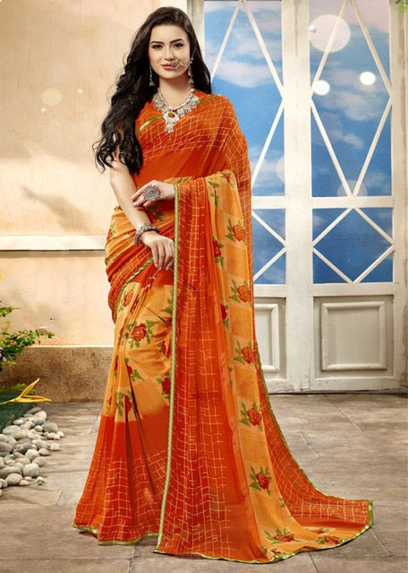 India Traditional Saree Sari Blouse Indian Dress Pakistan Clothing for Women Wedding Costume Ethnic Style Asian Clothes Sarees