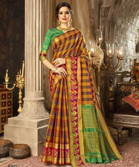 Indian Saree Custom Made Black Georgette India Sari Dress Girls Women Indian Traditional Sarees