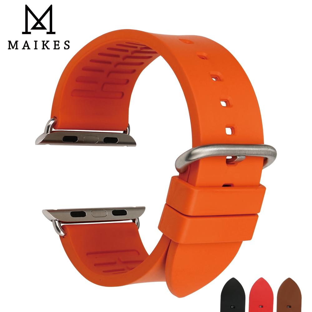 MAIKES Watch Strap Sports Watchband Watch Accessories For Apple Watch Bands 42mm 38mm Series 4 3 2 1 iwatch 44mm 40mm Bracelet