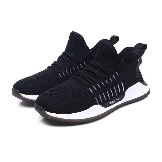 Men Casual Shoes Running Shoes For Men Flyknit Lace-up Air Mesh Man Sneaker Trend  New  Zapatos Hombre Men Sports Shoes Brand
