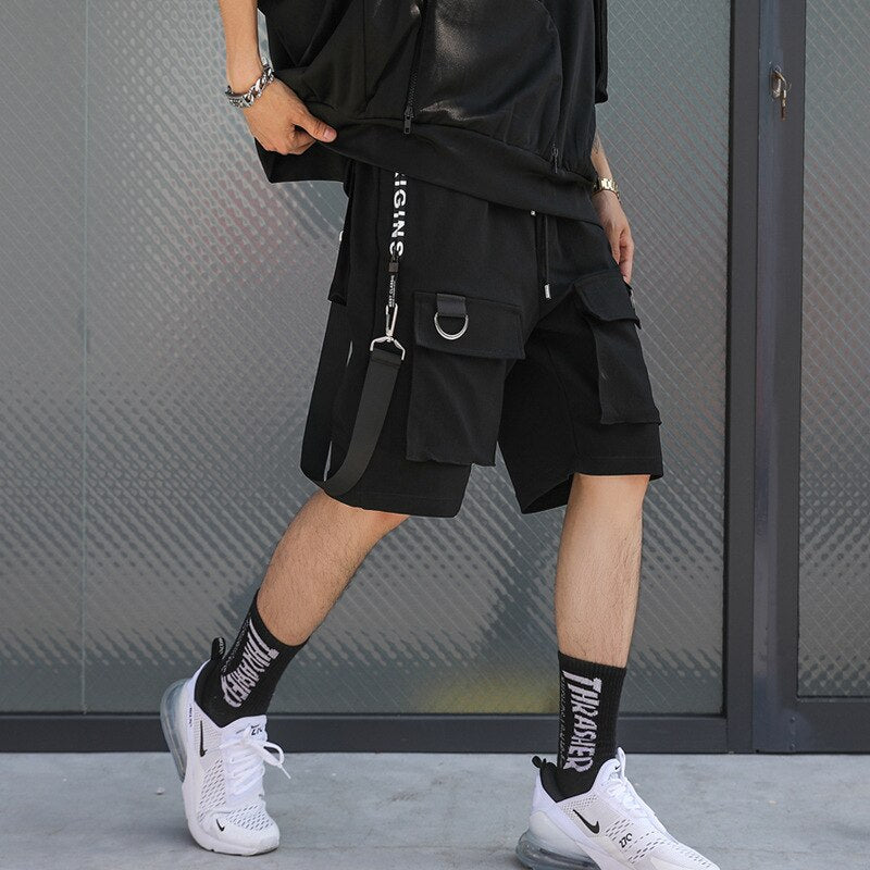 Men's Casual Shorts Summer New Hip Hop Five Pants Stretch Beach Pants Boys Casual Sweatpants Track Pants Loose Fit Stright Pants