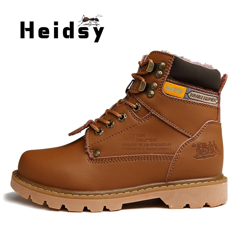 New Fashion Retro High-top Height Increasing Men Ankle Boots Autumn Winter Thick-sole Hot Classic Leather Casual Sport Men Shoes