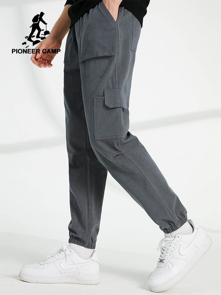 Pioneer Camp Workout loose Jogger Pants Men Loose Streetwear 100% Cotton Casual Track Pants Cargo Pants for Male AXX902322