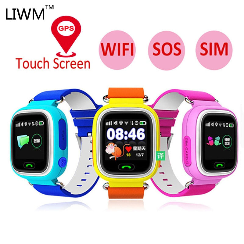 Q90 Gps Child Smart Watch Phone Position Children Watch Wifi Color Touch Screen Gps Positioning Sos Smart Baby Watch Q50 Q80 Q60