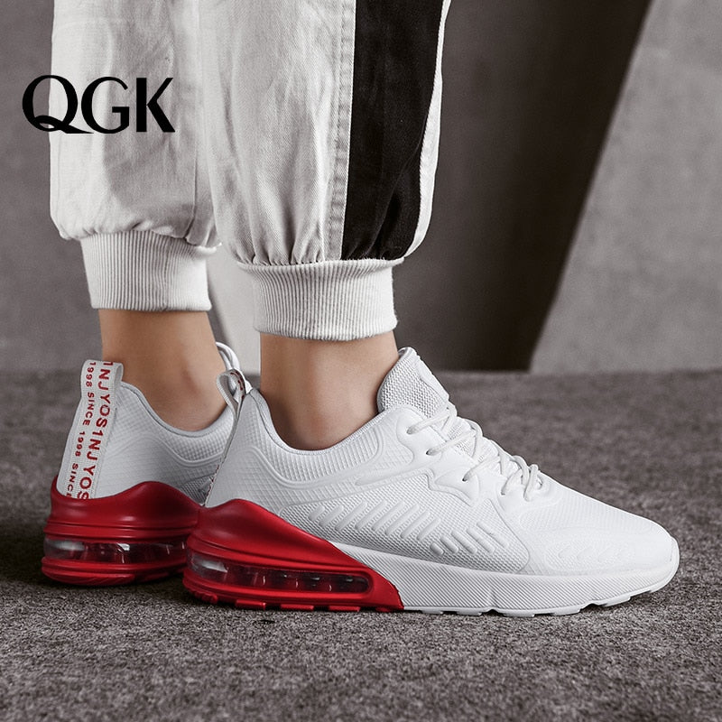 QGK 2019 Men Casual Shoes Lightweight Air Cushion Flats Walking Sneakers Footwear Male Trainers Fashion Classic Men Sport Shoes