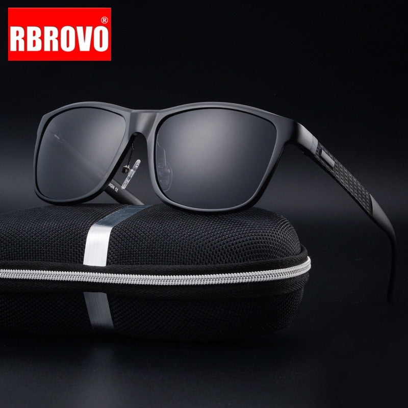 RBROVO 2018 Polarized Aluminum-Magnesium Alloy Sunglasses Men Brand Design Sun Glasses  Classic Retro Outdoor Glasses