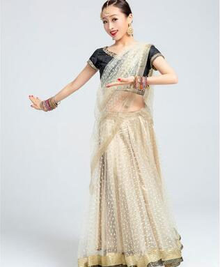 Sarees India Traditional  Woman Fashion Costume Ethnic Style Performance Suits top+skirt+scarf
