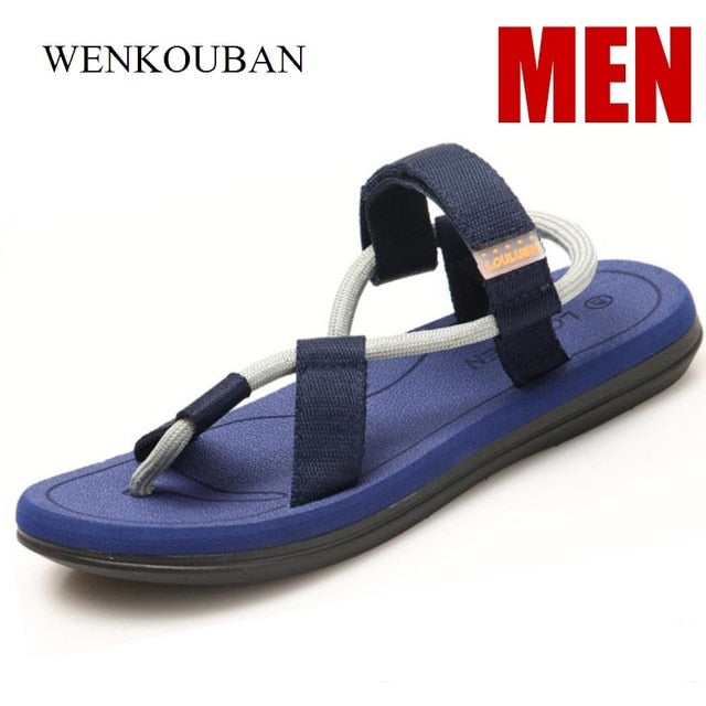 Summer Beach Sandals Men Casual Male Shoes Adult Roman Gladiator Sandals Slip on Flats Slippers Flip Flops Zapatos Hombre