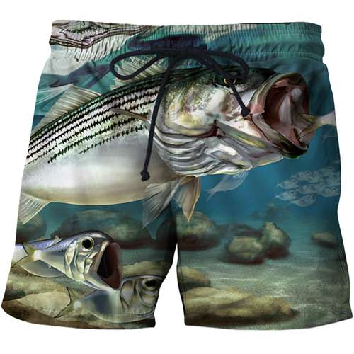 Summer Men Beach Shorts 2019 Punisher 3D Print Fish Fashion Men's Bermuda Board shorts Plus Size S-6XL Quick Dry SwimWear Short