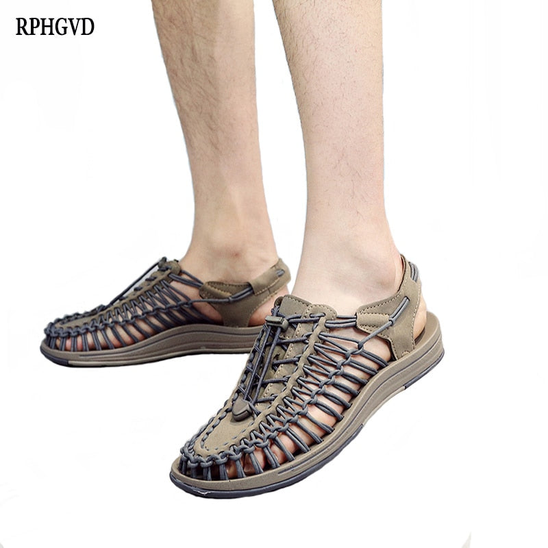 Summer New Men's Beach Shoes Couple Weaving Sandals Men's Flips Flops Outdoor Men's Casual Shoes Roman Sandals For Men and Women