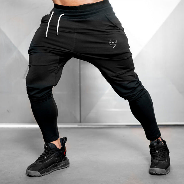 Sweatpants Joggers Pants Mens Casual Black Trousers Male Fitness Sporty Workout Cotton Track Pants Autumn Winter Sportswear