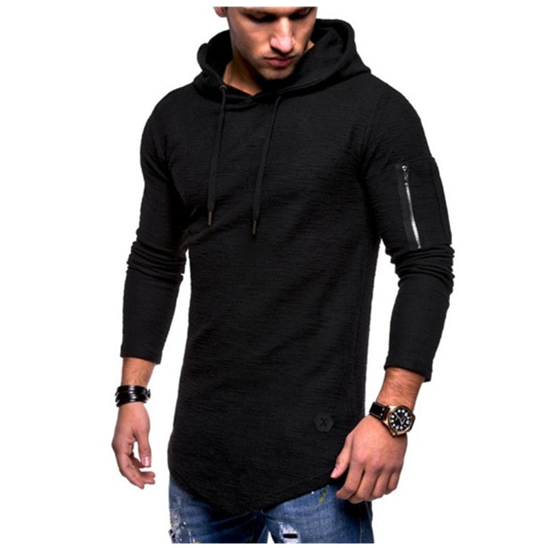 Fashion Men Slim Fit Long Sleeve Slim T-shirts Casual Tee Shirt Tops Pullover L