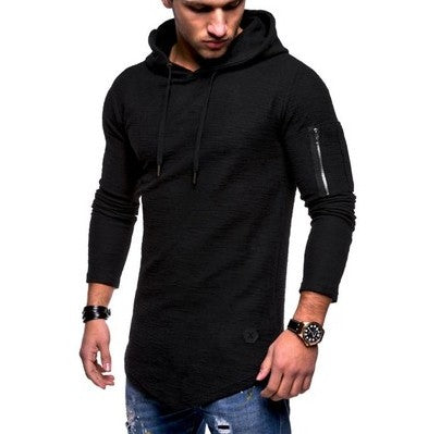 TShirts Men's Summer Slim Fit Casual Pattern Large Size Long Sleeve Hoodie Top Blouse Casual Men Fashion High Quality