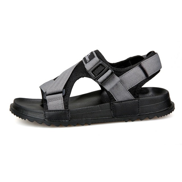 UPUPER Sandals Men Shoes 2019 Gladiator Mens Sandals Fashion Men Shoes Summer Flip Flops Gray Black Flat Sandals Big Size 36-46