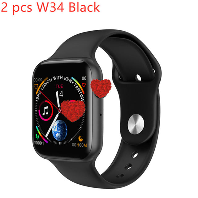 W34 iwo 8 Plus ecg ppg Smart Watch Band Heart Rate Monitor Fitness Tracker Bluetooth women/men Smart Watch Wristband Bracelet