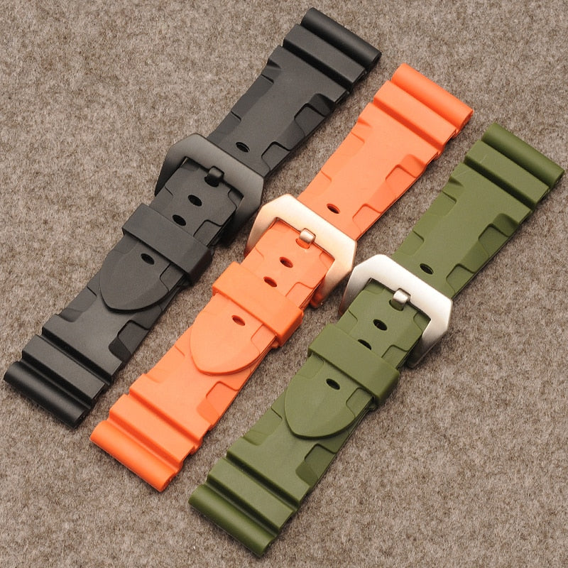 Watch accessories for Panerai panerai strap rubber watch with sports silicone strap 24mm 26mm
