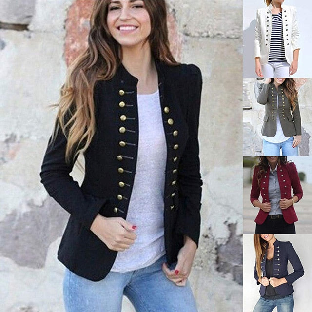 Women Jacket Coat 2019 Autumn Fashion Short Coat High Quality Double-Breasted Outerwear Ladies Clothes Plus Size 5XL