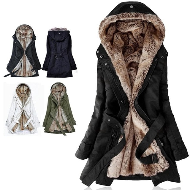 Women Winter Jacket 2019 Casual Ladies Basic Coat button fur jacket Warm Long Sleeve women parka Plush Overcoat Casual Outerwear