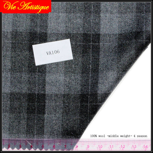 custom tailor made Men's bespoke suits business formal wedding ware bespoke 2 piece (Jacket+Pants) grey plaid wool slim fit 2019
