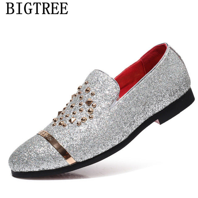 italian fashion glitter loafers men new arrival 2019 coiffeur wedding dress formal shoes men elegant party shoes men classic