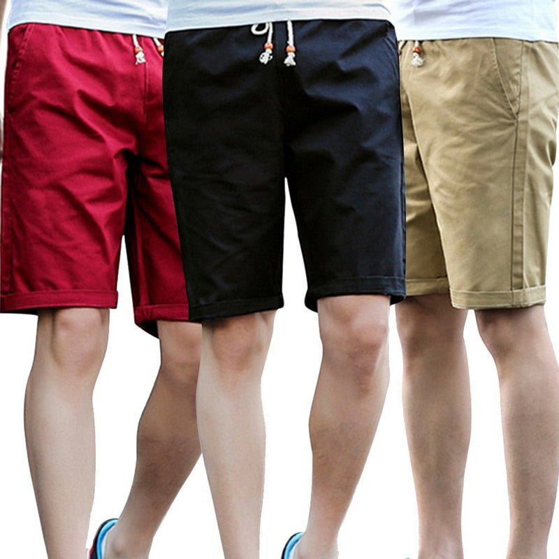CYSINCOS New Brand Joggers Leissure Breathable Casual Shorts Comfortable Plus Size Cool Short Solid Color Cotton Shorts Men
