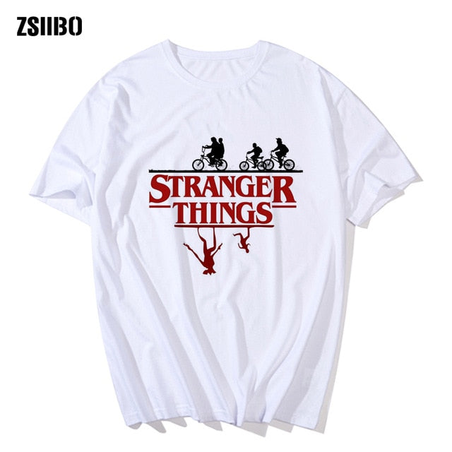 Stranger Things Tee Hipster Shirts Graphic T-shirt Men Letter Print T Shirt Fashion Clothing Top HY1MC63