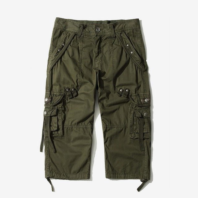 NIBESSER Summer Men Cool Casual Shorts Solid Cotton Short Pants Military Zipper Cargo Shorts Male Tactical Pocket Clothing Short