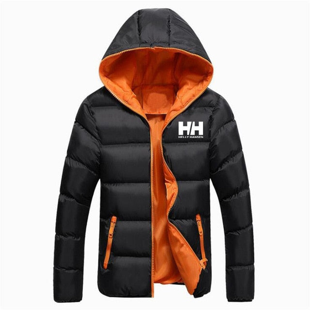High Quality Male Helly Hansen Printed Jacket Warm Thicken Brand Mens Winter Jacket Men HH Design Male Outwear Parkas S-5XL