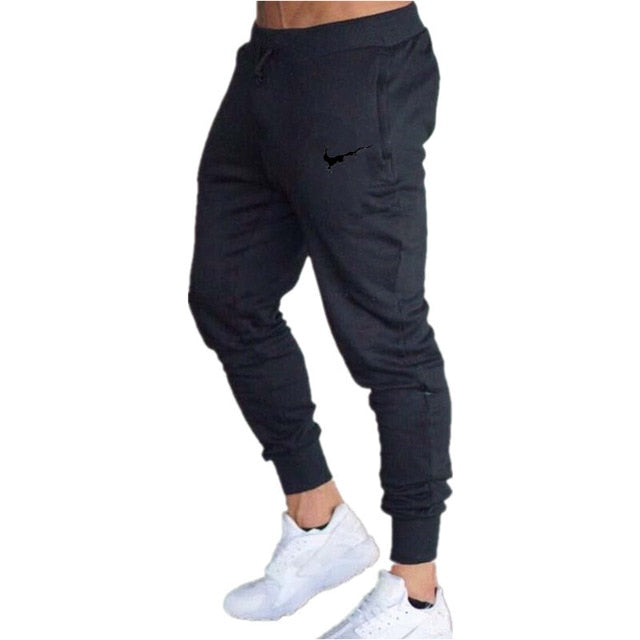 Mens Joggers Casual Pants Fitness Male Sportswear Tracksuit Bottoms Skinny Sweatpants Trousers Black Gyms Joggers Track Pants
