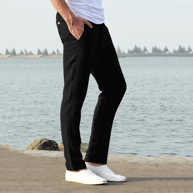 Solid Color Pants Men INS 2019 Mens Cotton Streetwear Sweatpants Male Korean Retro Joggers Casual Pants Men  7.12