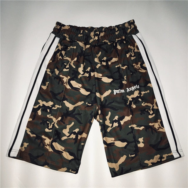 Palm Angels Shorts 1:1 High Quality Summer Black Red Palm Angels Shorts Camouflage Camo Skateboard Casual Palm Angels Shorts