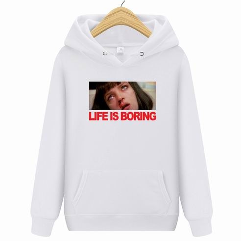 Brand Clothing  Life is Boring Fashion Hoody 2019 New Casual Men Hoodies Sweatshirts Printed Pullover Hoodie Cotton M-2XL