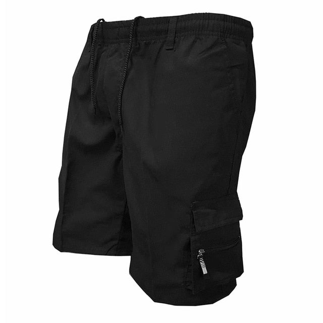 Men's Multi Pocket Cargo Shorts Casual Cotton Knee Length Military Shorts Men Loose Army Tactical Shorts Homme Summer Sweatpants