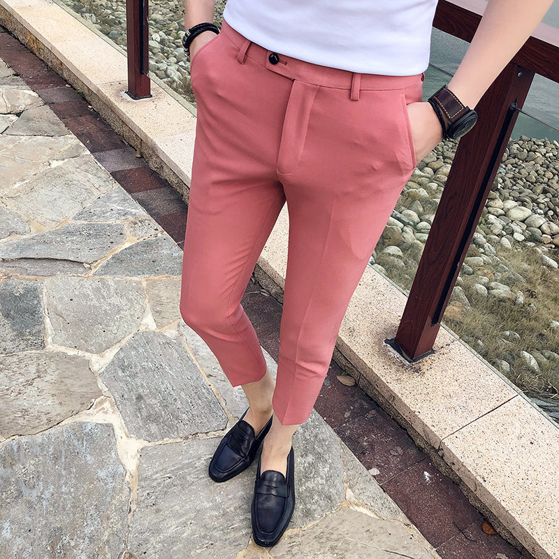 2018 Spring New Navy Blue Slim Fit Men Dress Pant Office Trousers Men Pantalon Homme Slim Men Formal Pant Trousers Pant For Man