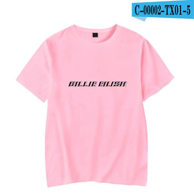 Streetwear Hip Hop Billie Eilish T Shirt Harajuku Casual O-Neck Short Sleeves Men Women T-shirt Hipster Cool Graphic Tee Shirt