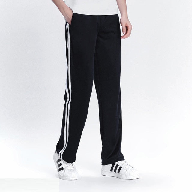 2019 Spring Summer Men's Casual Sweatpants Men Basic Trousers Tracksuit Side Stripe Slim Breathable Sportswear Track Pants