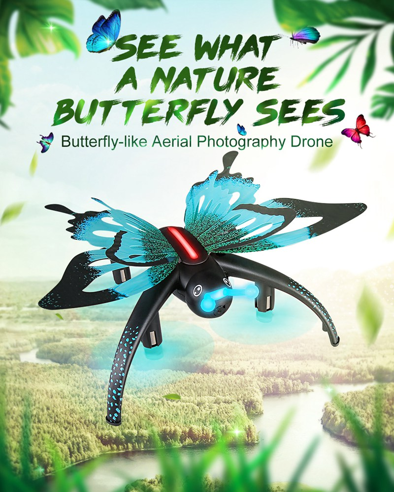 NEWEST INVENTION Voice Control Butterfly-like  Drone Quadcopter - with Virtual Reality capabilities. WATCH VIDEO