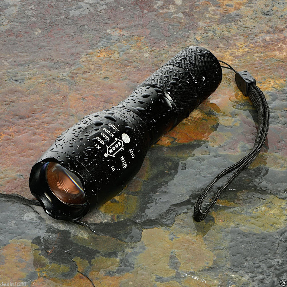 SUPER DUPER POWERFUL 10000 Lumens Zoomable Tactical Military LED Flashlight Torch