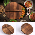 New Natural Traditional Wooden Wok Cover  Lid