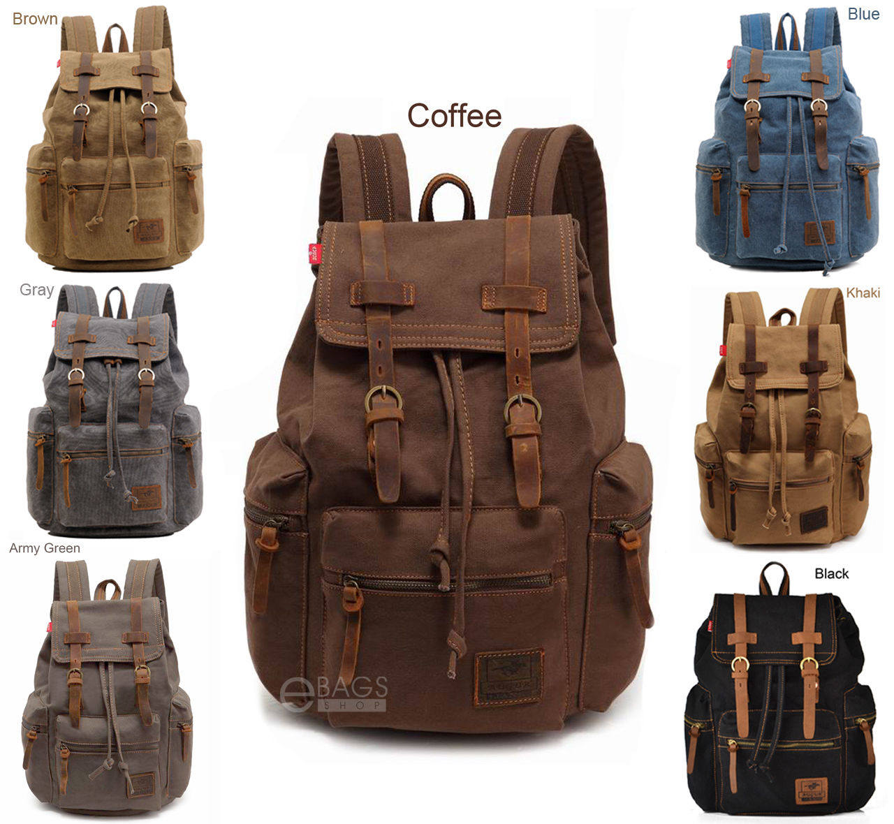Travel Canvas Sport Rucksack Camping School Satchel Laptop Hiking Bag Backpack