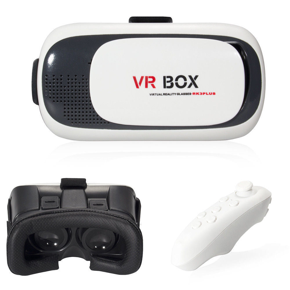 Virtual Reality Headset 3D With Remote for Android IOS iPhone Samsung - WATCH VIDEO
