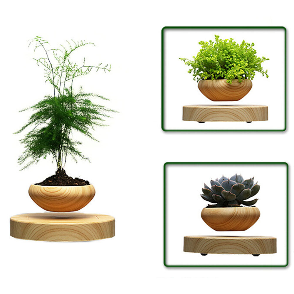 Japanese Levitating Wooden Pot For Your Plants