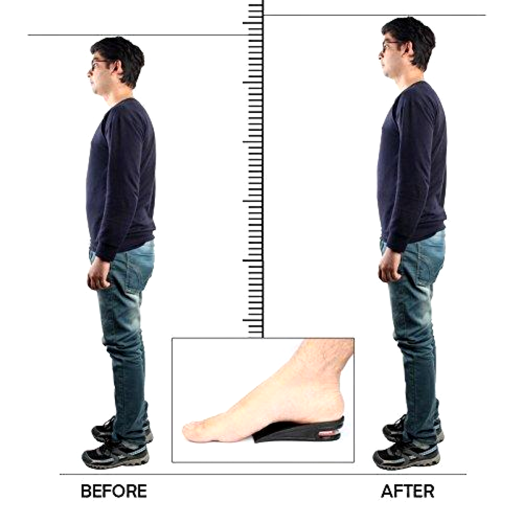 INCREASE YOUR HEIGHT - Muti-Layer Air Cushion Height Elevator Shoe Insole