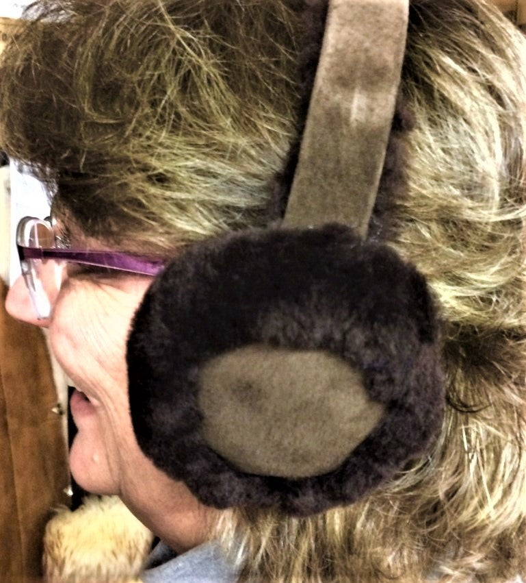 Real Handmade Sheepskin Fur Ear Muffs Cuddly Silky Ear Warmers
