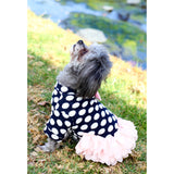 Matching Dog and Owner - 50s Style White Polka-Dot Dress - Dogs